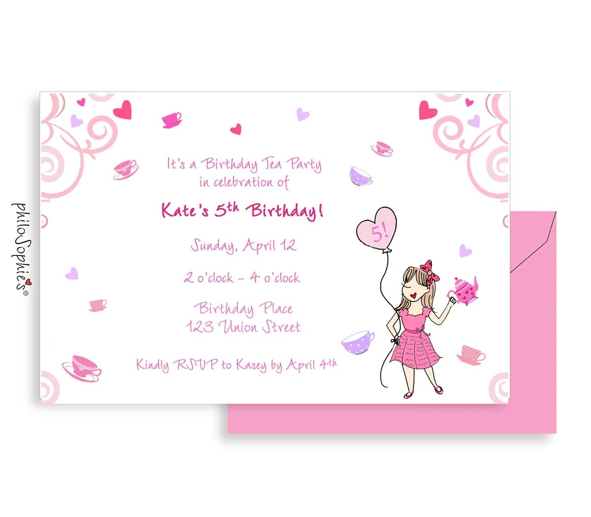 birthday invitation tea party