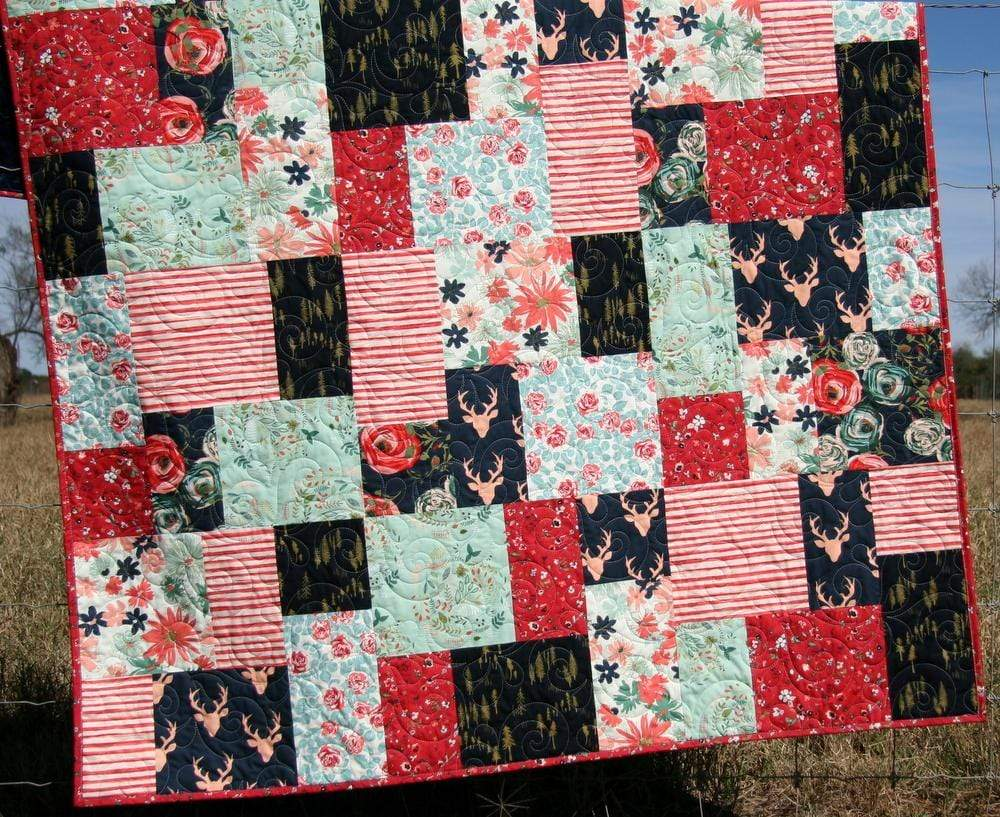 Throw Quilt, Minky Backing Modern Homemade Lap Quilt Couch ...