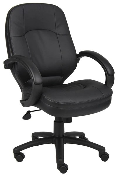 Boss Office Products B726BK Boss LeatherPlus Executive Chair