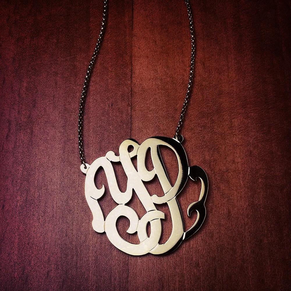 monogram necklace initial order