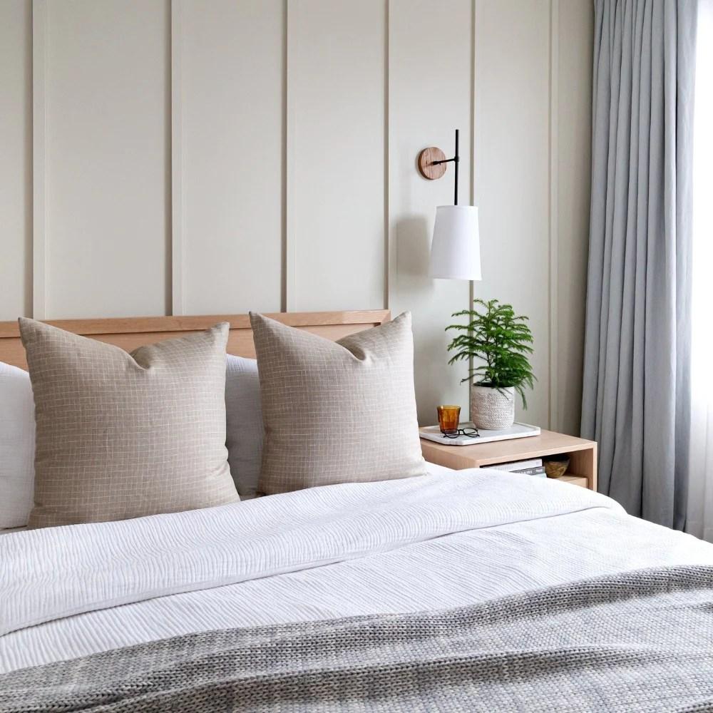windowpane linen 24x24 pillow dune