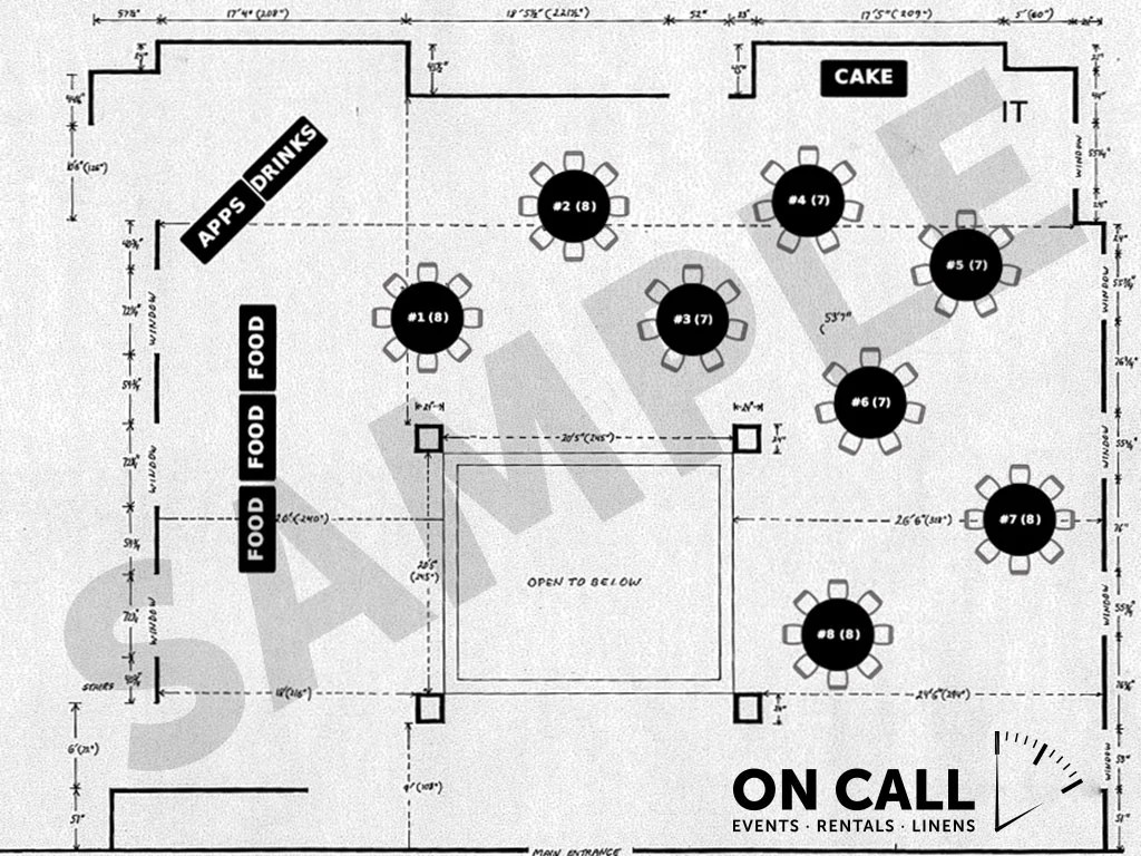 medium resolution of sample event layout diagram party planning in orange county ca