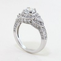 Ideal Three Stone Vintage Style Engagement Ring - Lauren ...