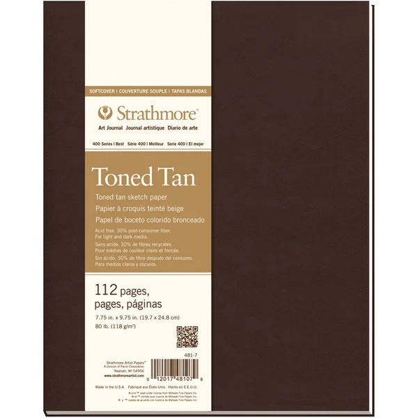 strathmore softcover sketch journal 7 75inx9 75intoned tan scrapbooking warehouse