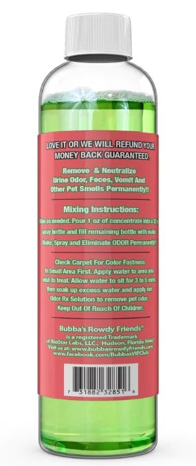 Bubba's Pet Stain And Odor Terminator Instructions : bubba's, stain, terminator, instructions, Xtreme, Eliminator, Super, Concentrate, Bubba's, Rowdy, Friends, Supply, Company