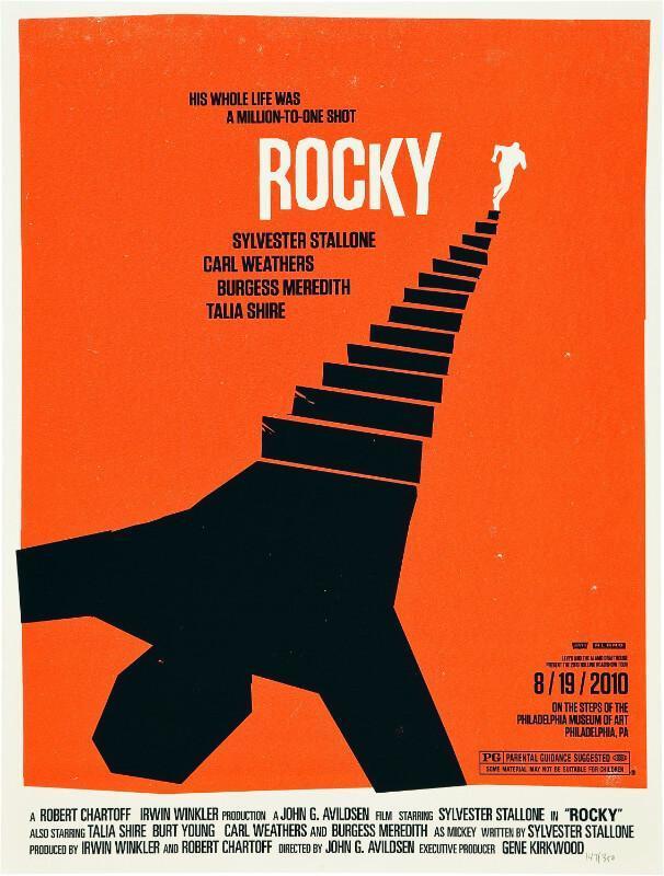 hollywood movie poster rocky framed prints