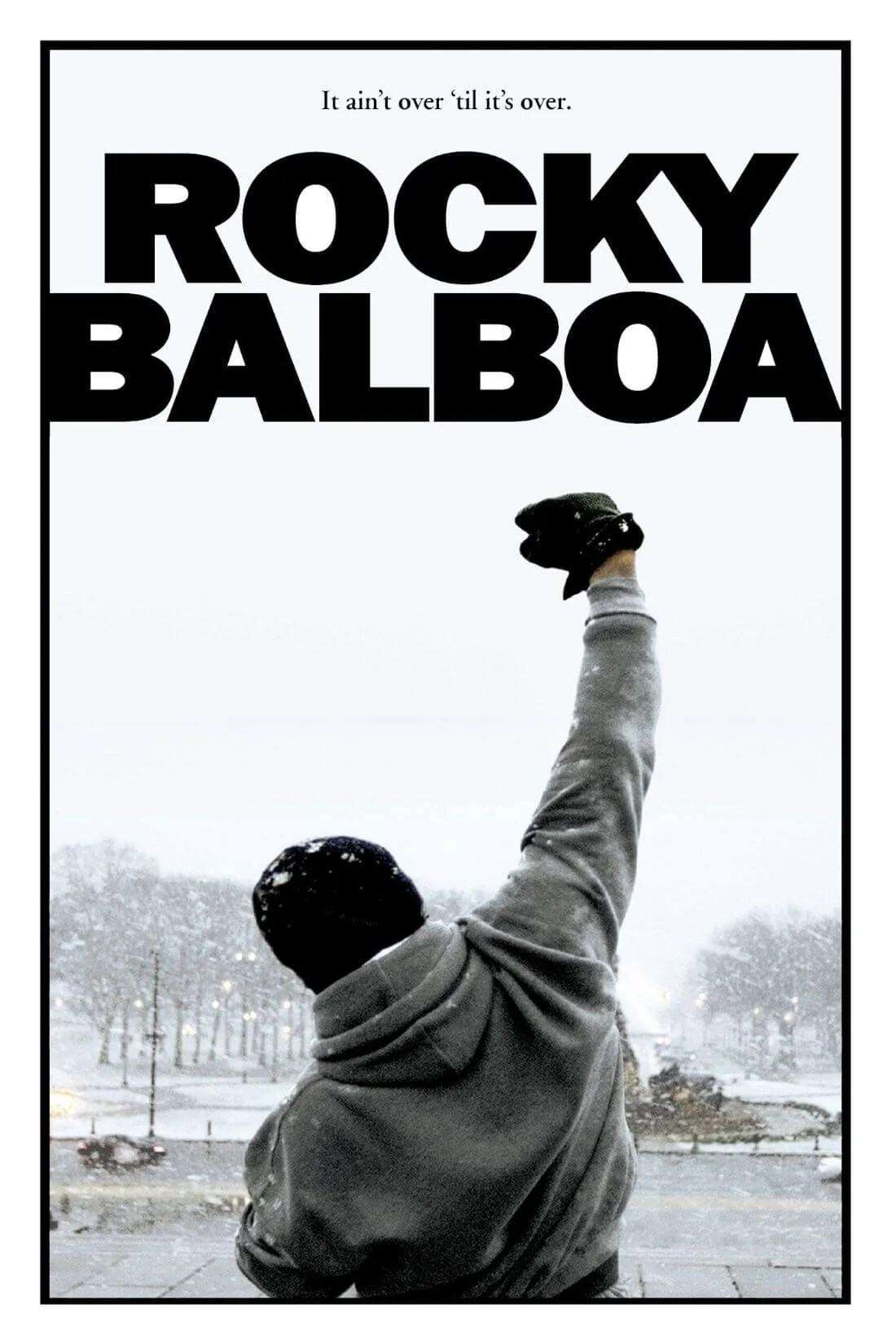 hollywood art poster rocky quote it aint over till its over framed prints