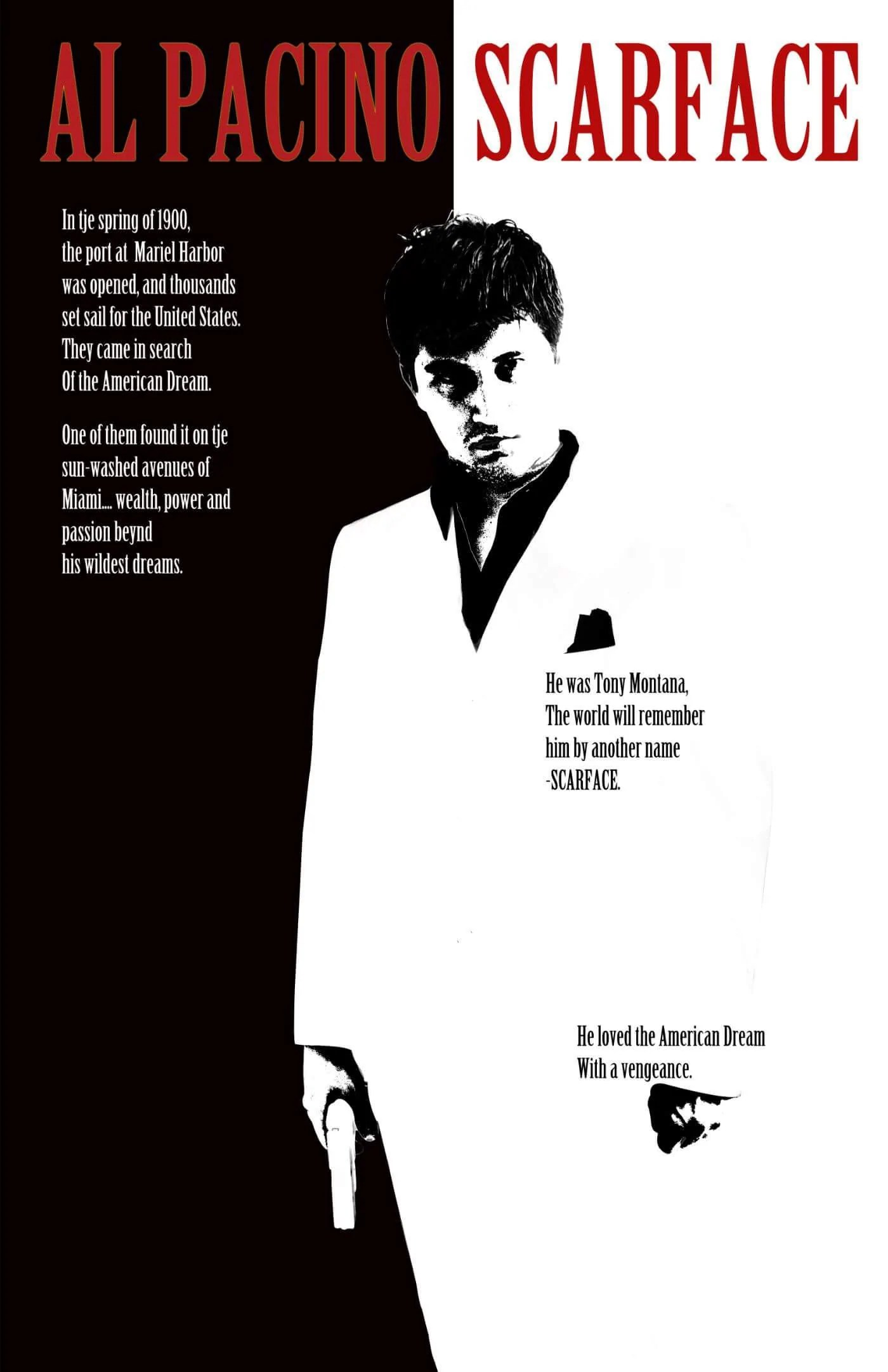 movie poster scarface fan art hollywood collection framed prints