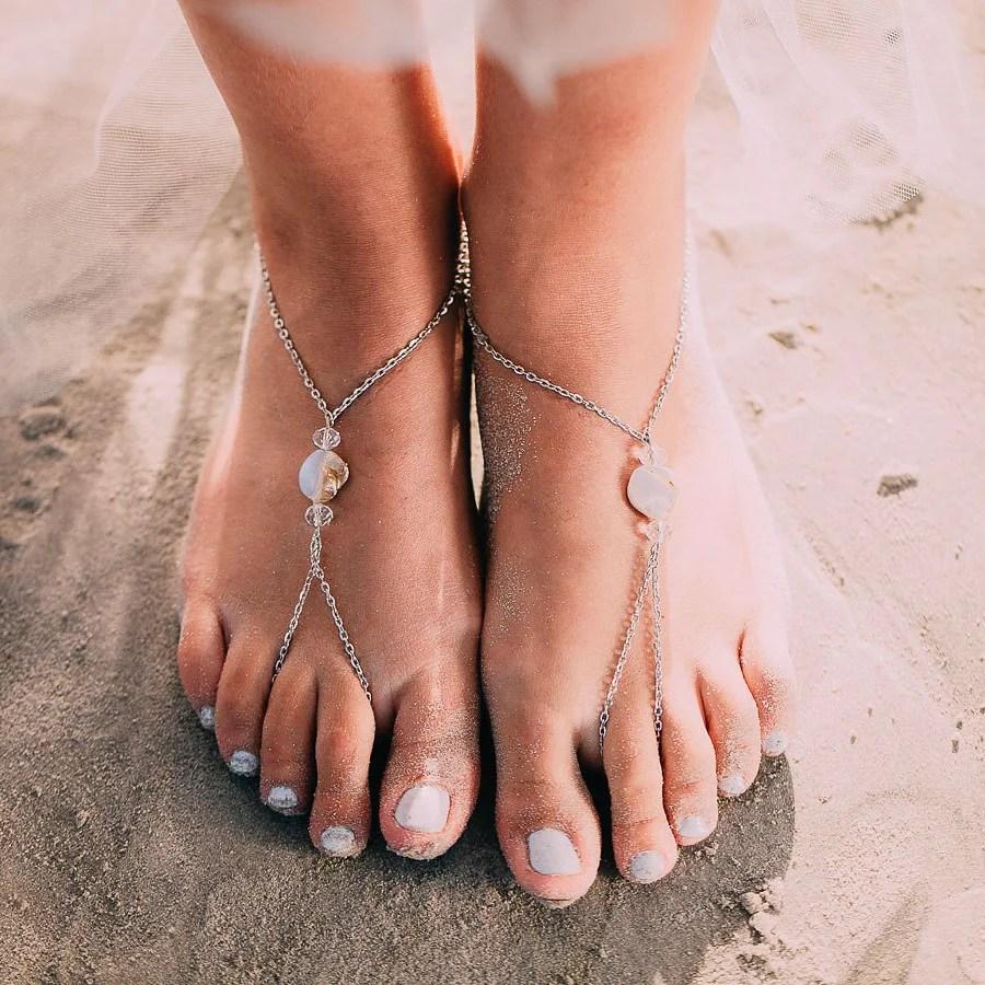 Shell Barefoot Sandals Romeo Foxtrot