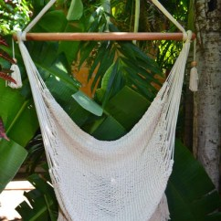 Hanging Hammock Chair Liberty London Dining Chairs With Macrame Solid Color Swing Mission