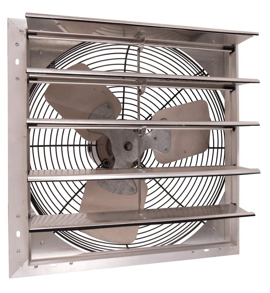 airflo nf shutter mounted wall exhaust fan 18 inch w 9 cord plug 3130 cfm variable speed 18nfsf4v180