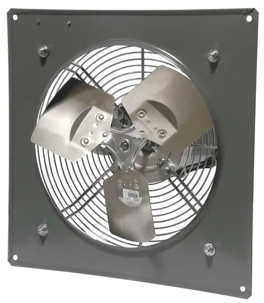 wall mount panel type exhaust fan 16 inch 2570 cfm 3 phase direct drive p16 1m