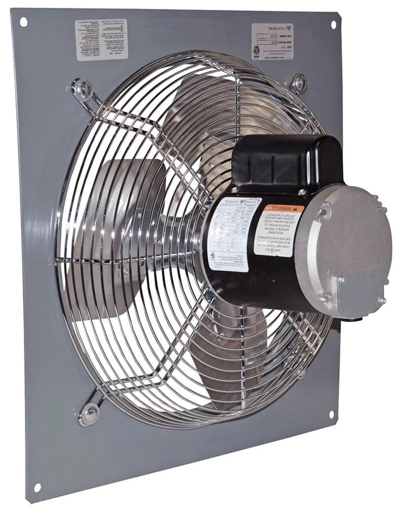 wall mount panel type exhaust fan 24 inch 1 speed 5520 cfm 3 phase p24 1m