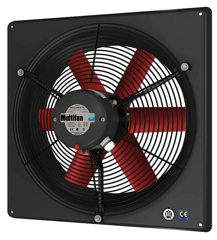 high performance panel exhaust fan w intake grill 10 inch 1250 cfm 240v direct drive v2e25k1m72100