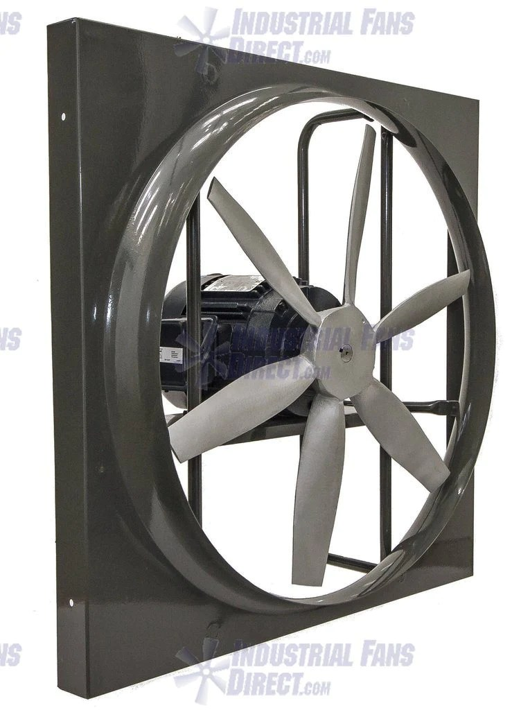 airflo 900 panel mount exhaust fan 60 inch 45000 cfm direct drive 3 phase n960l i 3 t