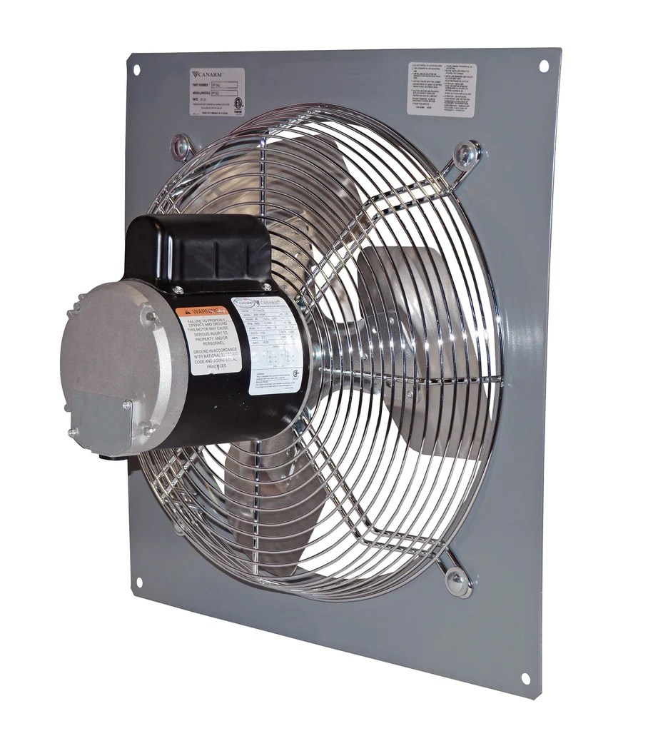 wall mount panel type exhaust fan 14 inch variable speed 2170 cfm direct drive p14 1v
