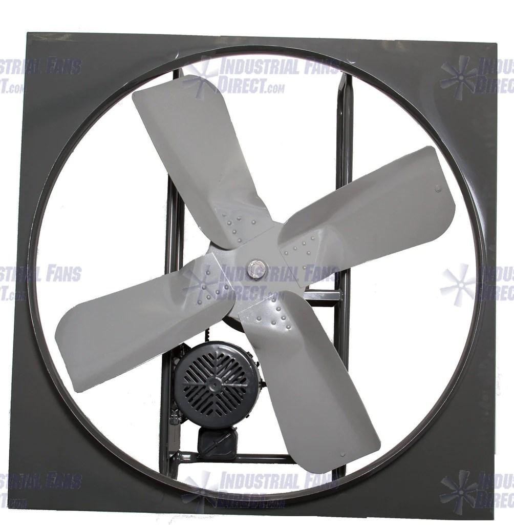 airflo n600 panel mount exhaust fan 24 inch 7800 cfm belt drive 3 phase n624 e 3 t