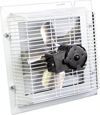 shuttered wall mounted exhaust fans