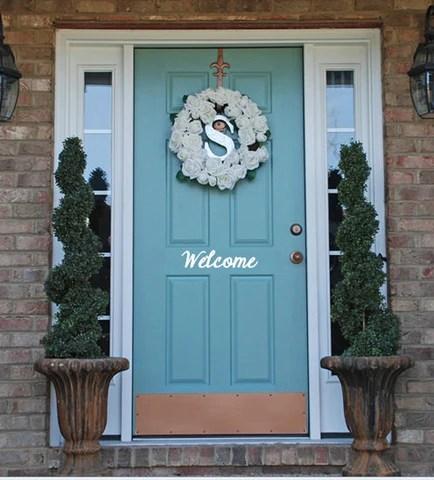 Vinyl Door Decal, Welcome Decal, Front Door Decal
