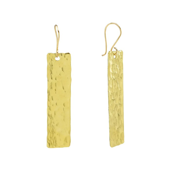 Blake Gold Brass Earrings - Gifted to stylist of ABC's Quantico