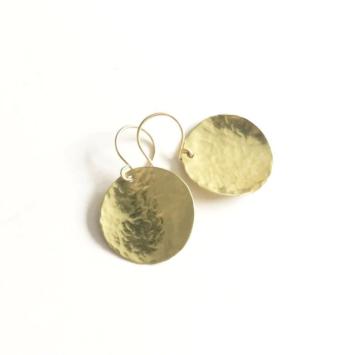Gold Steel Pan Earrings - Gifted to stylist of CBS's show BrainDead