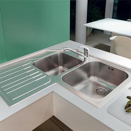 corner kitchen sink out door kitchens sinks taps studio stx621 inset lh drainer for sale