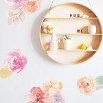 Bright Water Color Floral Wall Decals The Lovely Wall Company
