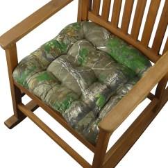 Green Chair Cushions Wedding Covers Hire Warwickshire Realtree Xtra R Camo Rocking Latex Foam Fill Reversible