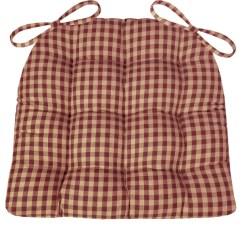 Rocking Chair Cushion Pattern Sand Beach Chairs Checkers Red & Tan Dining Pads - Latex Foam Fill Farmhouse – Barnett Home Decor