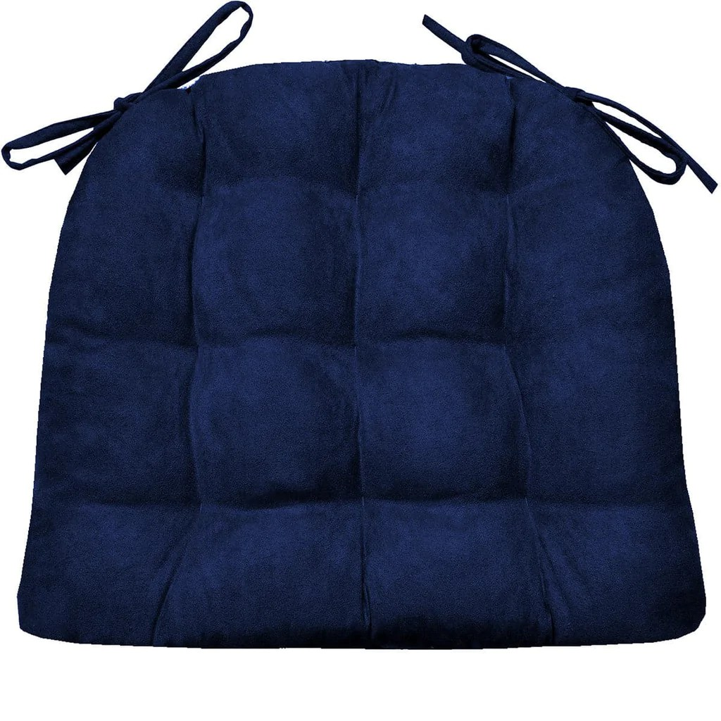 Royal Blue Chair Micro Suede Royal Blue Dining Chair Pads Latex Foam Fill Reversible