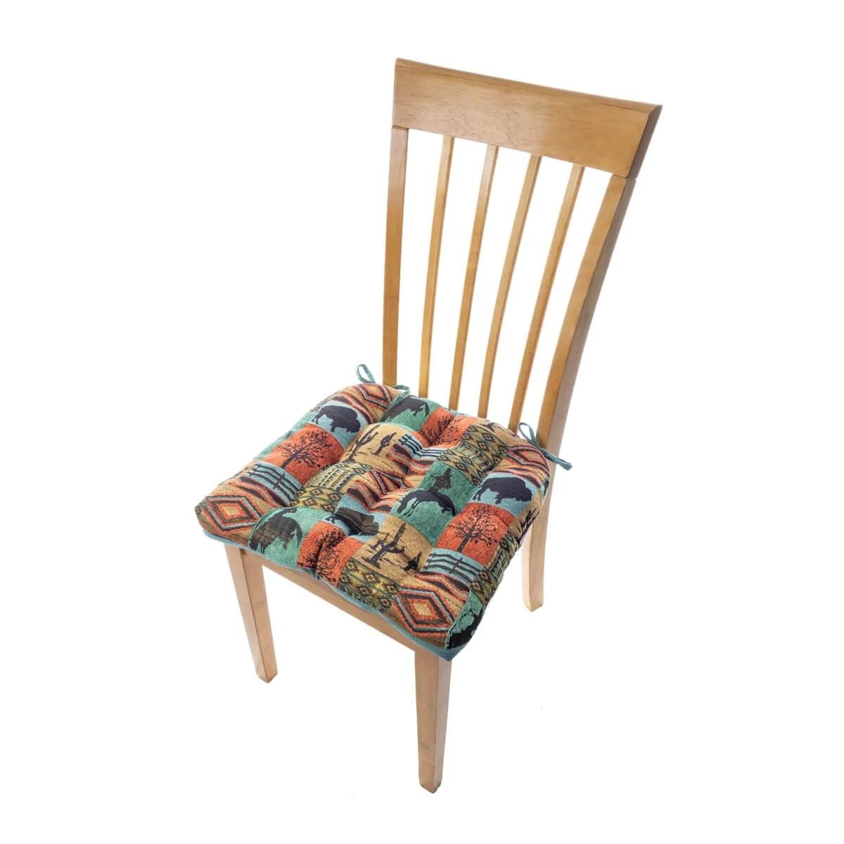 southwest dining chairs padded folding for sale laramie chair pad latex foam fill barnett home decor