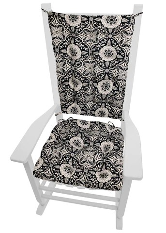 large rocking chair cushion sets white swing uk clearance cushions barnett home decor signature black size extra latex foam fill