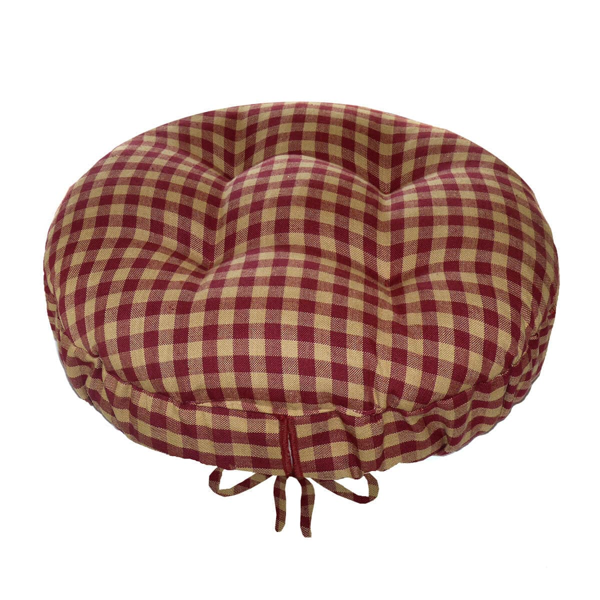 Checkers Red & Tan Bar Stool Cover With Cushion And