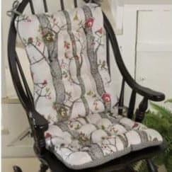 rocking chair pad set bentwood repair lancy bird house cushion latex foam fill multi