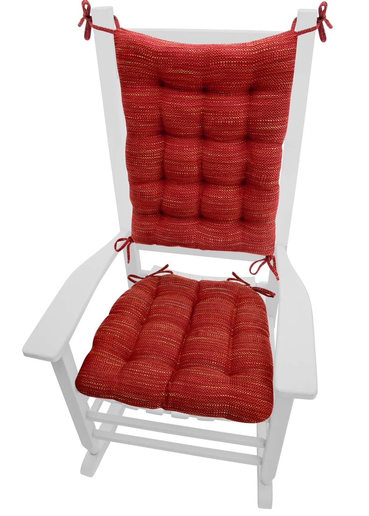 red kitchen chair pads bed bath and beyond armchair covers brisbane tweed rocking cushions latex foam