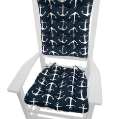 Grey Chair Cushions Swedish Dining Rocking Barnett Home Decor Sailors Anchor Navy Blue