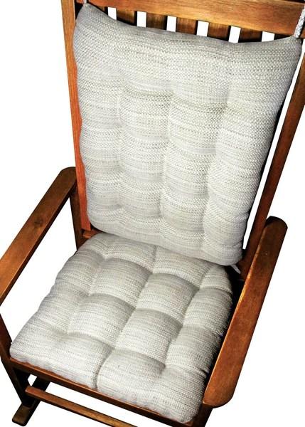 Brisbane Mist Grey Rocking Chair Cushions Latex Foam