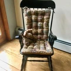 Windsor Rocking Chair Cushions Ikea Pads Woodlands Fish Camp Latex Foam Fill Rustic Lodge