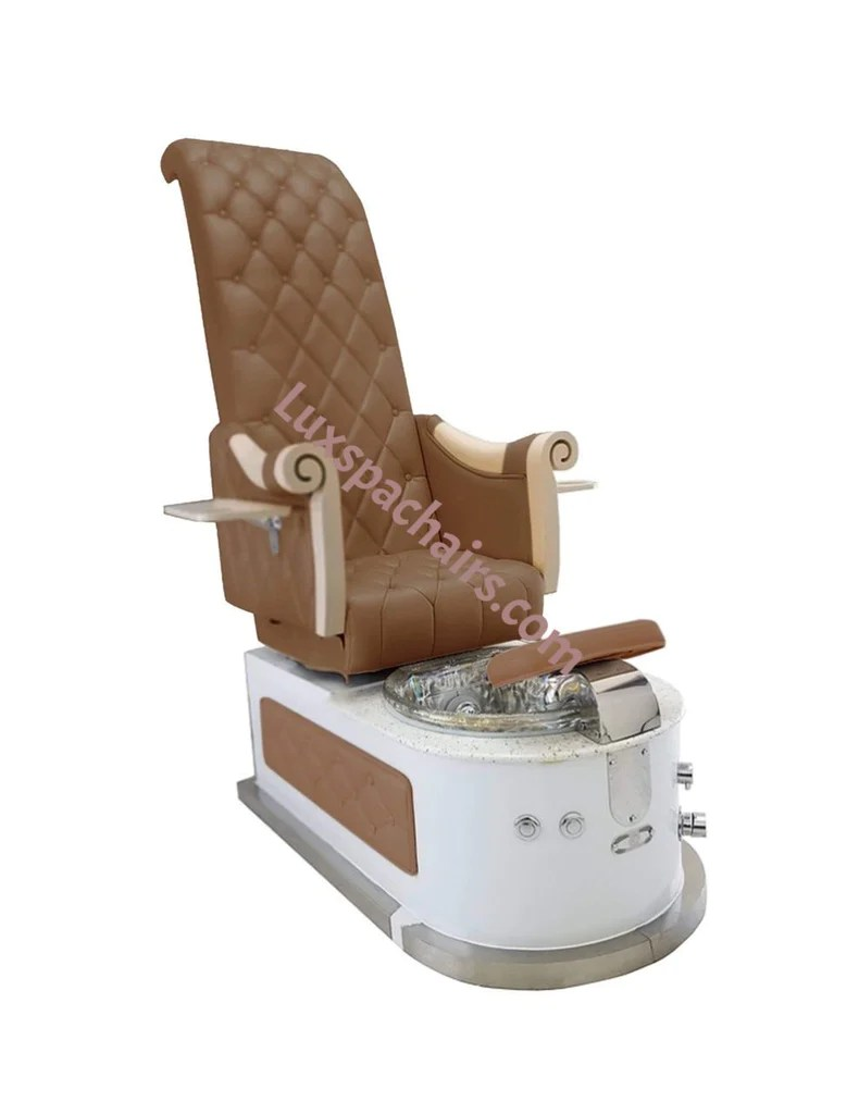 European Touch Pedicure Chair Lux Royal Hb550s High Back Pedicure Spa Chair