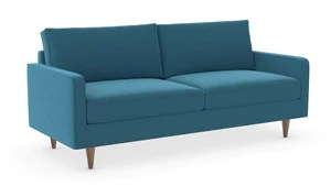 teal sofas to get up narrow stairs and loveseats tagged indigo2ashny lenny apartment sofa wood legs 71