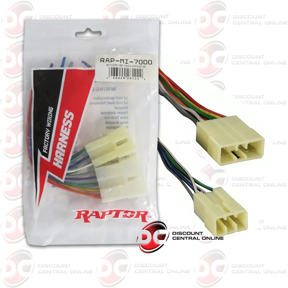 raptor mi 7000 wiring harness for select 1987 1994 dodge mitsubishi ve discountcentralonline [ 1000 x 1000 Pixel ]