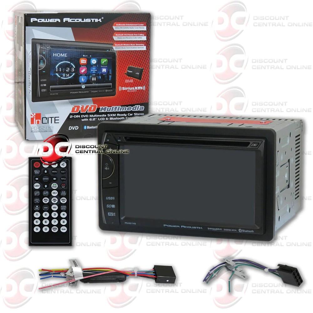 Power Acoustik Pd-621xb 2-din 6.2 Car Fm Cd Dvd With
