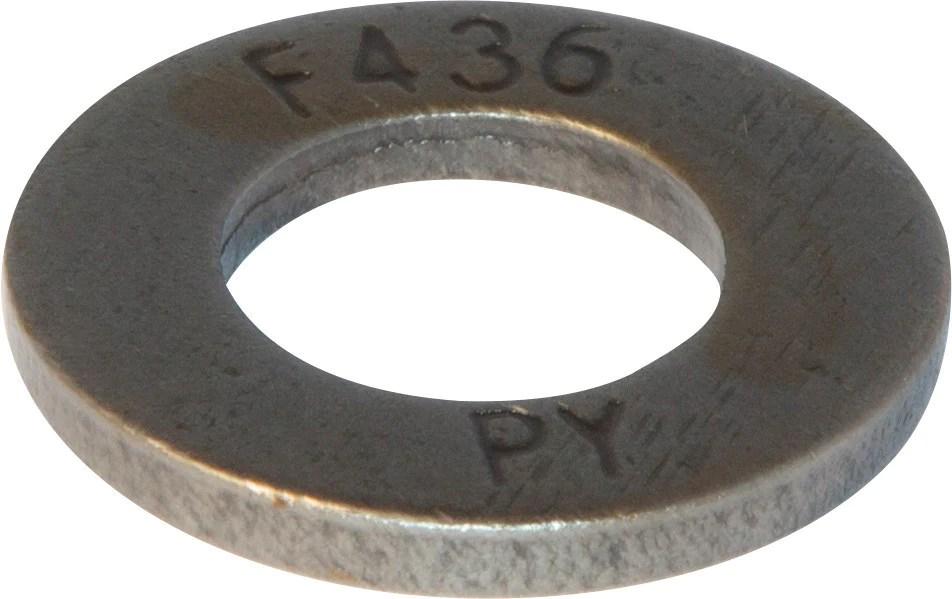 1 12 F436 Flat Washer Plain  FMW Fasteners