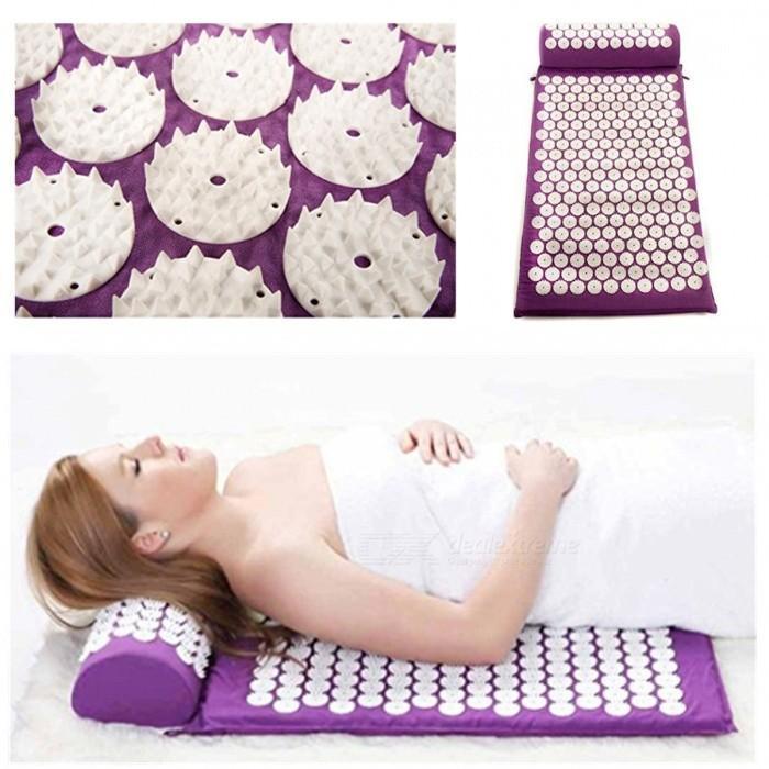 https storydeals com products masseur appro62 38 cm coussin tapis de massage acupression soulager la douleur au dos du corps pic tapis dacupuncture massage tapis de yoga avec oreiller