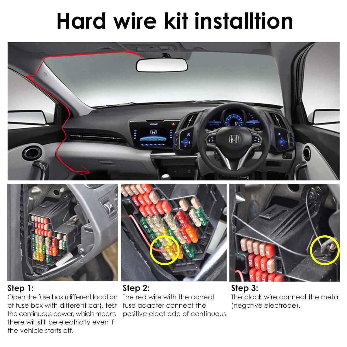 small resolution of vantrue dash cam hardwire kit 12v to 5v mini usb fuse taps