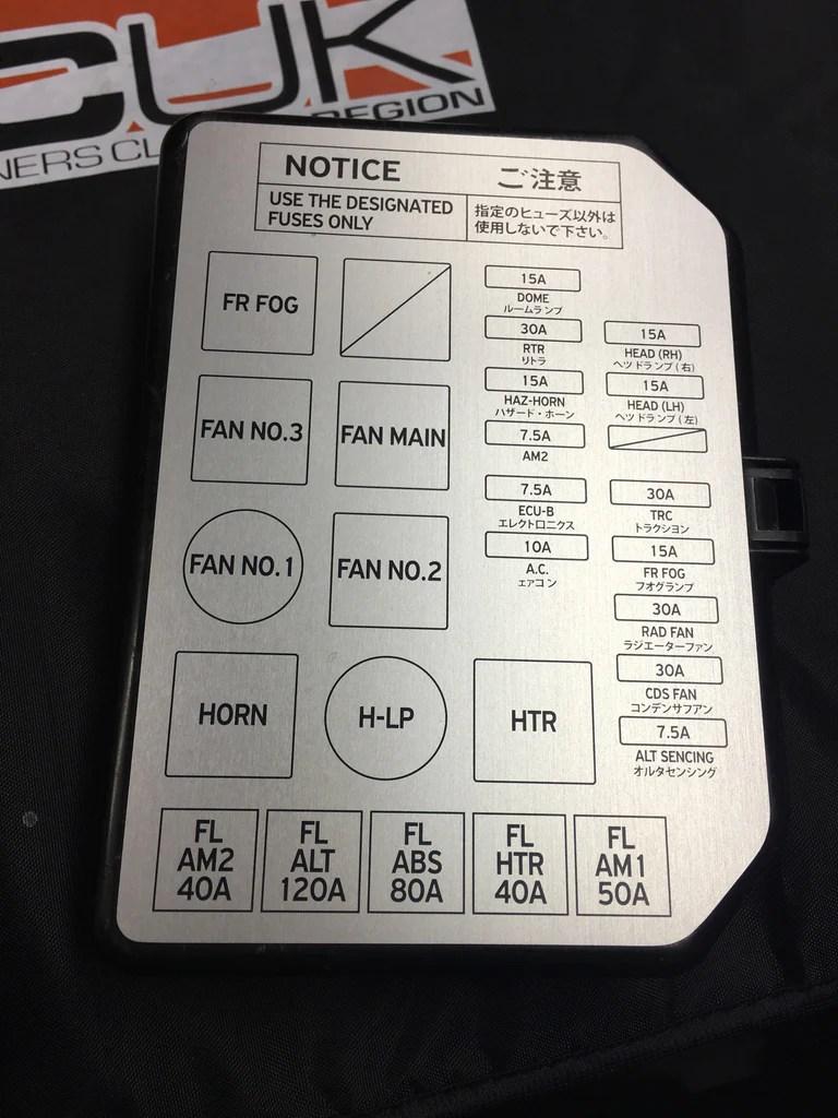 mr2 mk1 fuse box