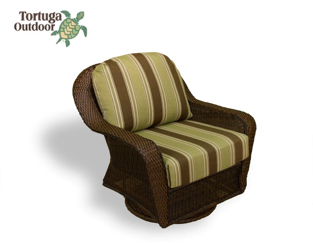 Wicker Swivel Chair The Sea Pines All Weather Wicker Swivel Gliding Club Chair Tortuga Outdoor