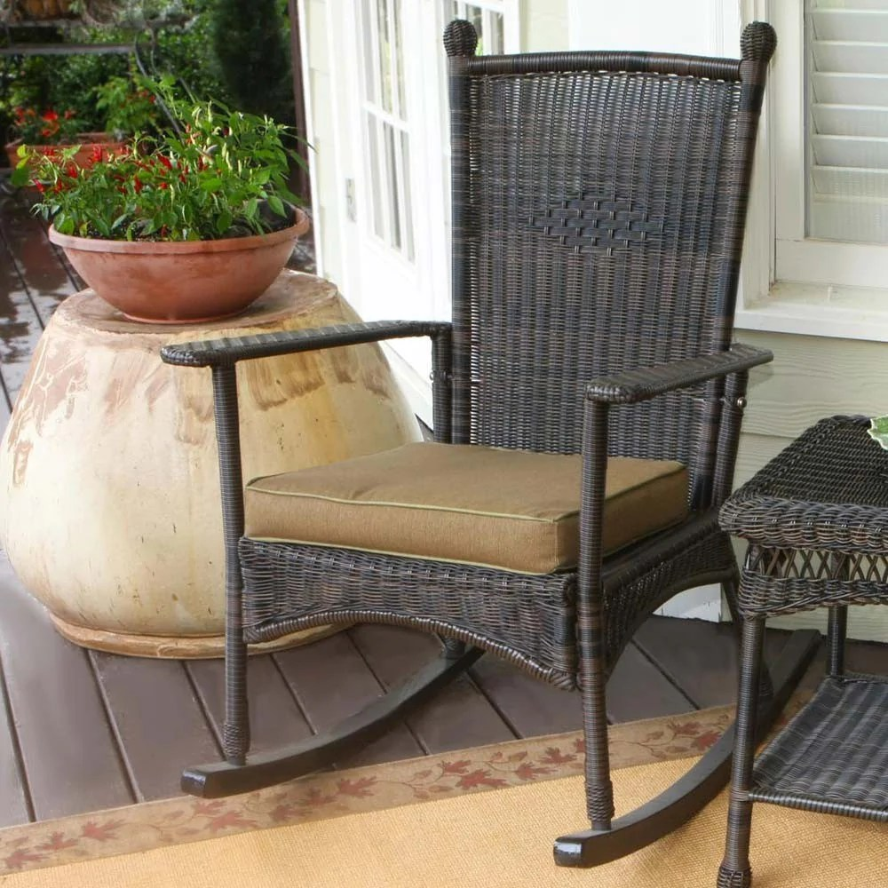 Wicker Rocking Chair The Portside Classic All Weather Wicker Rocking Chair Set Tortuga Outdoor