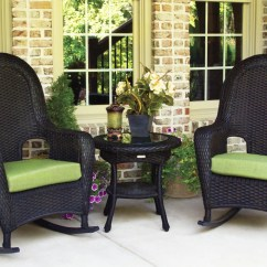 Wicker Rocking Chairs Hanging Hammock Chair The Sea Pines All Weather Set Tortuga Outdoor Lexington