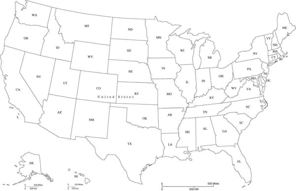 The Map Of The World With Each Country And State Black And White